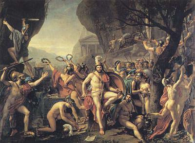 """Leonidas at Thermopylae"" by Jacques-Louis David, 1814]"