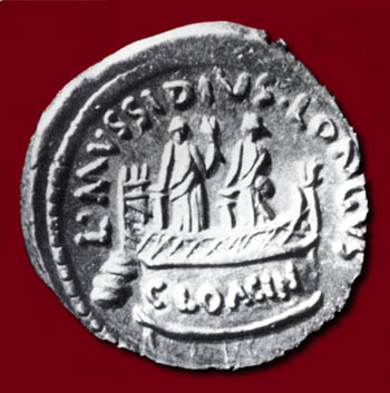 coins minted with Venus Cloacina