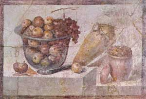 wall painting, Pompeii, ca. 70 AD]