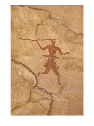 Cave painting hunter
