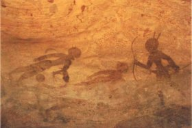 Second cave painting hunter