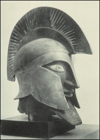 The giant warrior's head 'Etruscan terracotta statue' that turned out to be a complete fake.