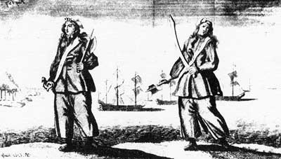 A less sexualized image of Anne Bonny and Mary Read, two of the most famous female pirates who sailed in the Caribbean.
