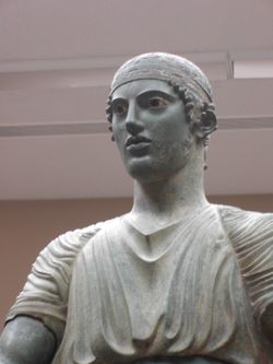 It is extremely rare to find ancient statues where the inlaid glass eyes and copper detailing survive for 2500 years! This is one reason why the Charioteer of Delphi is considered an incredible piece of ancient sculpture.
