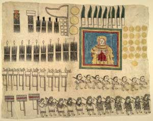 A Mayan codex, printed on amatl paper