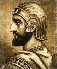 Artist's conception of Cyrus II.