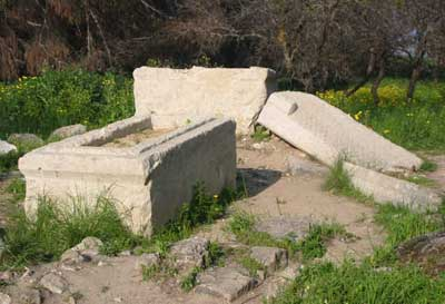This gravesite has been attributed to either Deborah or the General Barak; there isn't yet enough evidence to conclusively say whose it is one way or the other.