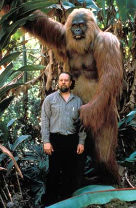 The giant ape called Gigantopithecus probably stood at least 10 feet tall… and maybe even co-existed with humans!