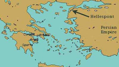 The Hellespont was a rather important area of the sea in ancient Greece, both in terms of warfare and ancient mythology.