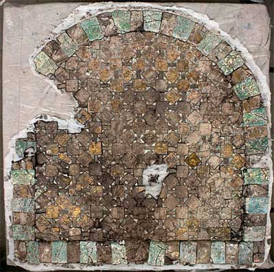 This 1,400-year-old glass mosaic was discovered in a palace located in northern Israel's Caesarea.