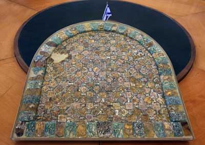 Another view of the glass mosaic from Caesarea.