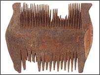 A comb for treating head lice and nits from the 6th C BC in Egypt.