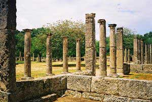 The ancient training grounds at Olympia.]