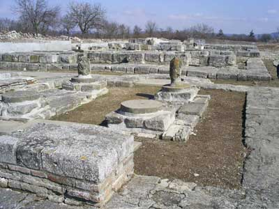 Ruins from the ancient Bulgarian capital of Pliska, which existed during the earliest Medieval period and was the country's first capital.