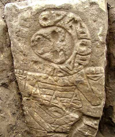 The plaza of a settlement from the ancient Taino people is lined with stone carvings like these. This could be the largest Taino settlement in the Caribbean!