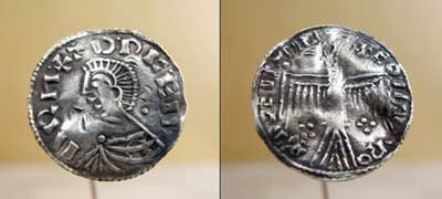 A treasure trove of Viking coins were found in a Swedish vegetable garden and included a very rare ancient coin.