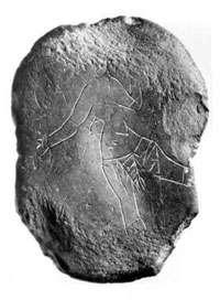 The 'Venus van Mierlo' was a prehistoric engraving of a dancing girl, found in the Netherlands. Little else is known about it.