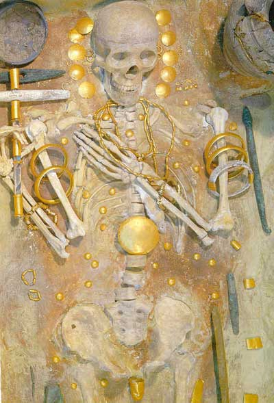 Grave 43, full of gold, from the Varna Necropolis.