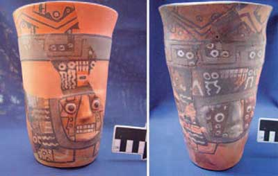 Wari ritual drinking vessels! They might have even smashed some of these in the 'deliberate' fires they set while drunk out of their minds.
