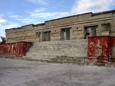 A Zapotec palace in Mitla, the closest city to the ancient caves where chili pepper remains were found.