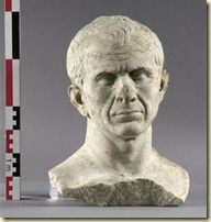 a bust of Caesar that was found in France.