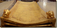 Tutankhamun's bed