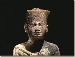 An ivory statuette of the Pharaoh Khufu