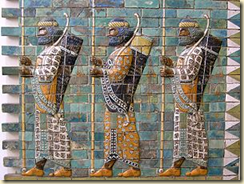 A frieze from 510 BCE depicting Persian Immortals