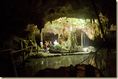 A water filled cavern where Mayan temples were found