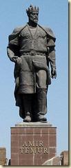 A statue of Tamerlane