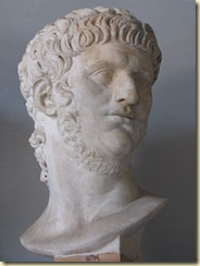 A bust of the Roman Emperor Nero