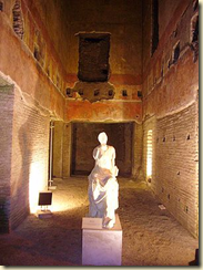 Part of the interior of the Domus Aurea