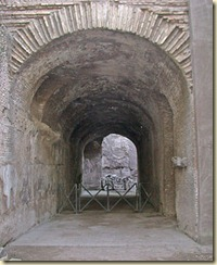 A cryptoporticus built during the reign of Nero