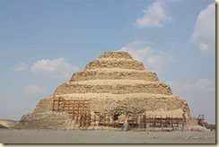 A pyramid made of stacked mastabas