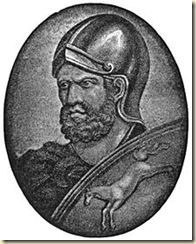 A portrait of Hannibal the Great of Carthage