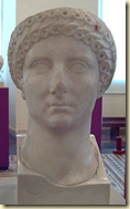 A bust of Agrippina the Elder