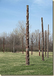 This collection of wooden posts was used in astronomy