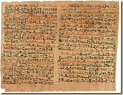 A papyrus on anatomy and medicine believed to be written by Imhotep