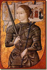 Artist's interpretation of Joan of Arc