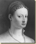 A portrait of Lucrezia Borgia, daughter of Rodrigo