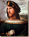Portrait of Cesare Borgia, son of Pope Alexander VI