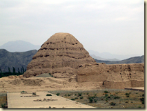 One of the Tangut tombs found in China