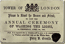 A ticket to the popular British  April Fool's prank