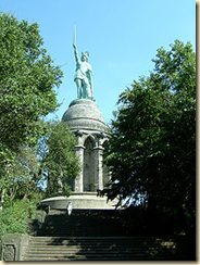 A modern monument to Arminius and his victory over Rome