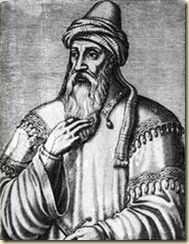 A drawing of Saladin who may have started the Thursday of the Dead