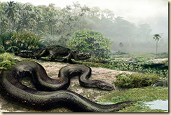 This massive snake lived approximately 65 million years ago
