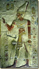 This image of Seti I was also found at the Abydos temple
