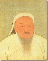 An illustration of the Mongolian ruler Genghis Khan