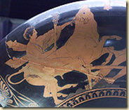 This Kylix shows an image of Theseus and the Marathonian bull