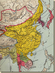 This map shows how large China grew during the Ming Dynasty